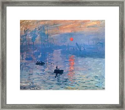 Impression Sunrise Soleil Levant Framed Print by L Brown