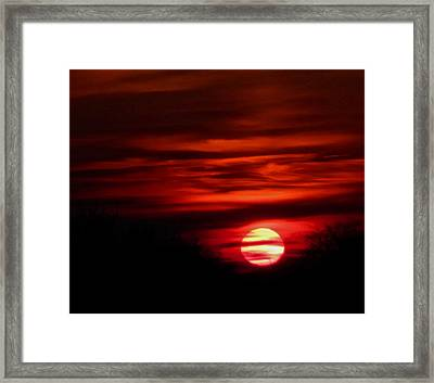Impression Sunset Framed Print