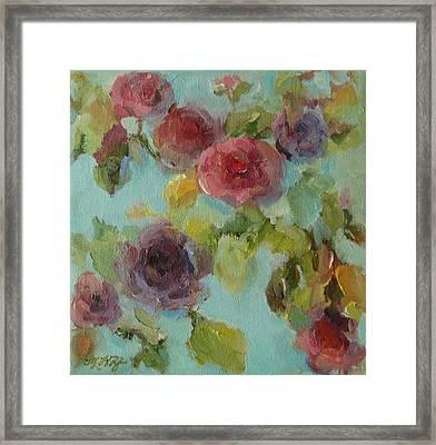 Impressionist Floral  Framed Print