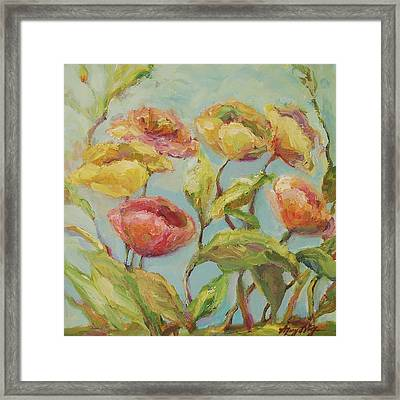 Framed Print featuring the painting Impressionist Floral Painting by Mary Wolf