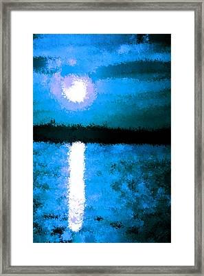 Impressionist Moonlight Framed Print