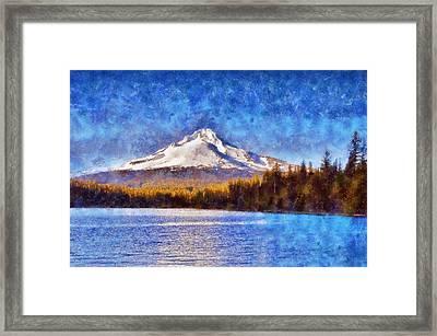 Impressionist Mount Hood Framed Print