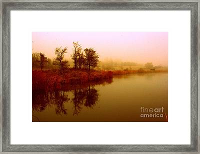 Framed Print featuring the photograph Impressionist Reflection by Julie Lueders