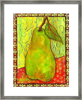 Impressionist Style Pear Framed Print by Blenda Studio