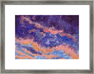Impressionist Sunset Framed Print by Tricia Griffith
