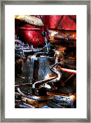 Rotten Old Farm Tractor Framed Print