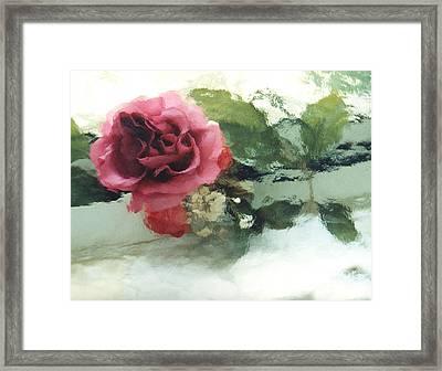 Impressionistic Watercolor Roses, Romantic Watercolor Pink Rose  Framed Print