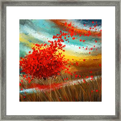 Impressionistic Beauty- Autumn Impressionist Framed Print by Lourry Legarde