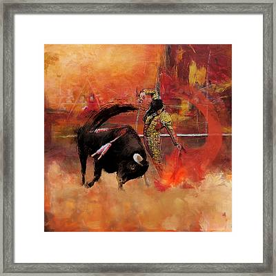 Impressionistic Bullfighting Framed Print by Corporate Art Task Force