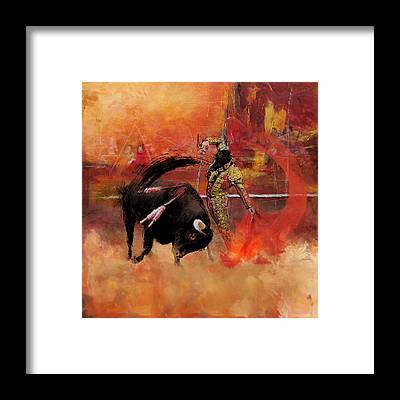 Torero Framed Prints