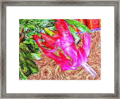 Impressionistic  Easter Cactus Blossom  Framed Print by Barbara Griffin