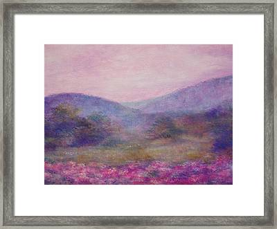 Impressionistic Foggy Summer Morning  Framed Print