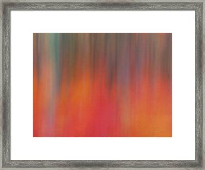 Impressionistic Forest Light Framed Print by Leland D Howard