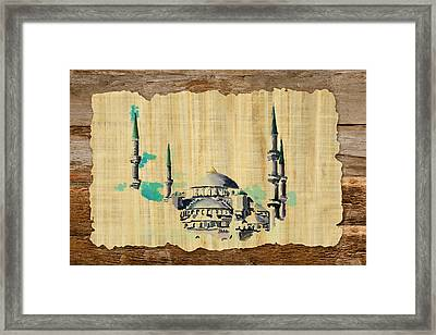Impressionistic Masjid E Nabwi Framed Print by Catf