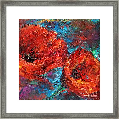 Impressionistic Red Poppies Framed Print by Svetlana Novikova