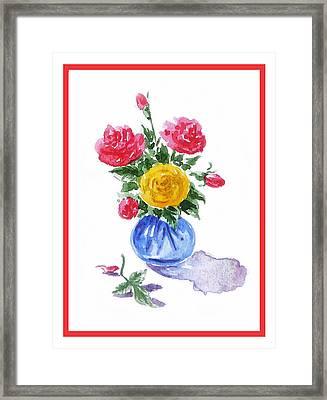 Impressionistic Roses Framed Print