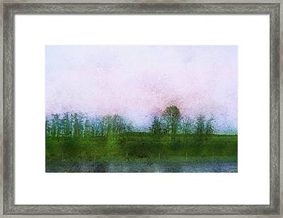 Impressionistic Style Of Trees Framed Print by Roberta Murray