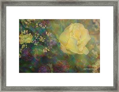 Framed Print featuring the photograph Impressionistic Yellow Rose by Dora Sofia Caputo Photographic Art and Design