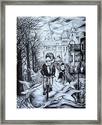 Impressions Of Amsterdam Framed Print by Anna  Duyunova