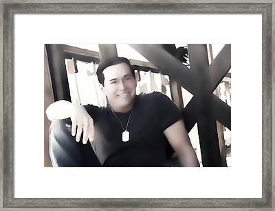 Impressions Of Country Singer Brian Shotwell Framed Print by Carolina Liechtenstein