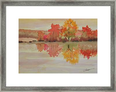 Impressions Of Fall Framed Print by Warren Thompson