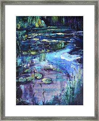 Impressions Of Giverny Framed Print by Donna Tuten