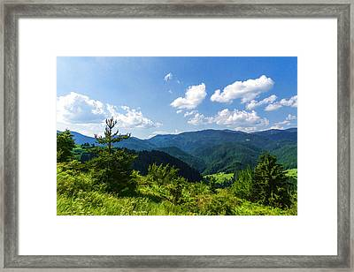 Impressions Of Mountains And Forests And Trees Framed Print by Georgia Mizuleva