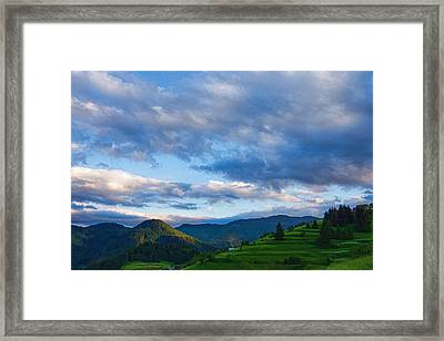 Impressions Of Mountains And Magical Clouds Framed Print by Georgia Mizuleva