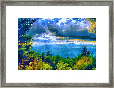 Impressions Of Waterrock Knob On The Blue Ridge Parkway Framed Print
