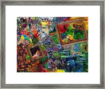 Impressions Framed Print by Paula Emery