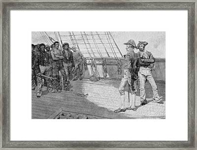 Impressment Of American Seamen, Illustration From Our Countrys Cradle By Thomas Wentworth Framed Print
