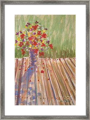 Framed Print featuring the painting Impromptu Bouquet by Suzanne McKay