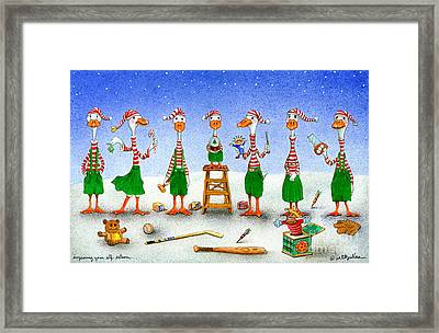 Improving Your Elf Esteem... Framed Print by Will Bullas