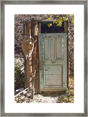 Improvised Outhouse Framed Print