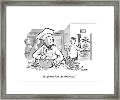 In A Baker's Kitchen Framed Print