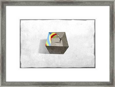 In A Box Framed Print by Steve Dininno