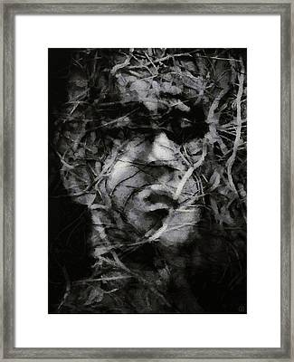 In A Brushwood Of Thoughts Framed Print