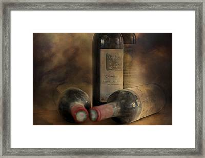 In A Corner Of A Wine Cellar Framed Print