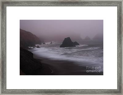 In A Fog Framed Print by Suzanne Luft