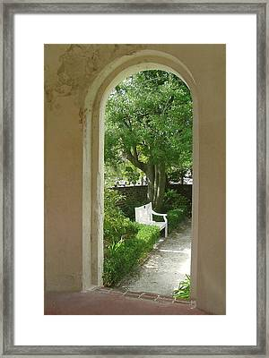 In A Garden House Framed Print