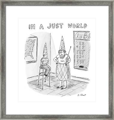 'in A Just World' Framed Print