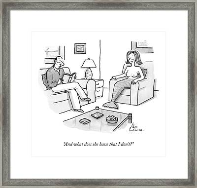 In A Living Room Framed Print