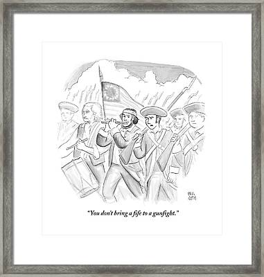 In A Military March Framed Print by Paul Noth