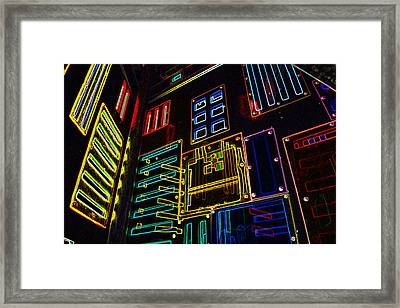 In A Neon-box Framed Print by Tine Nordbred