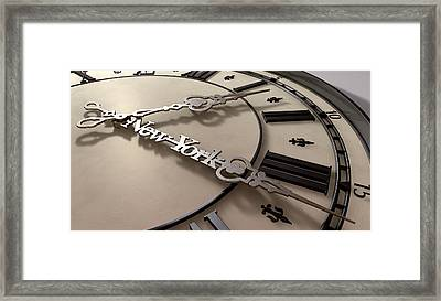 In A New York Minute Clock Framed Print