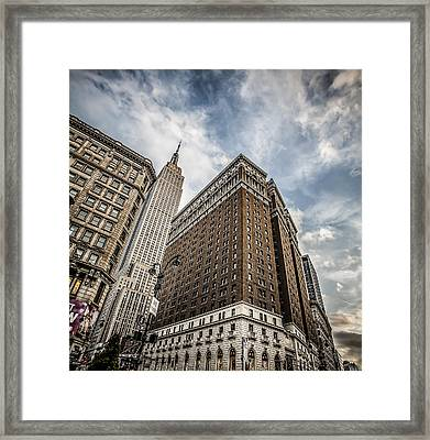 In A New York Minute Framed Print by Shari Mattox