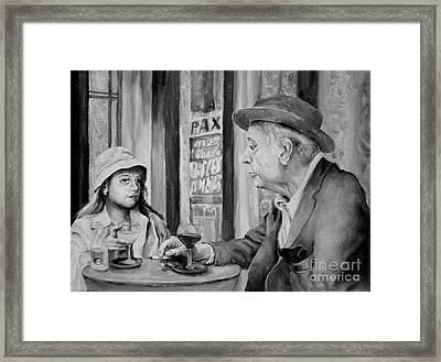 In A Parisian Cafe Framed Print