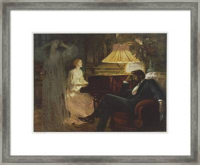 In A Reverie Induced By His  Wife Framed Print