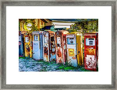 In A Row Framed Print by Bob and Nancy Kendrick