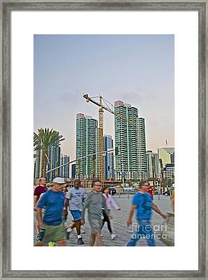 In A Rush Framed Print by Claudia Ellis